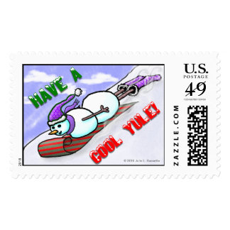 Cool Yule Snowman Large Postage