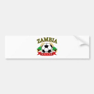 Cool Zambian soccer designs Bumper Sticker