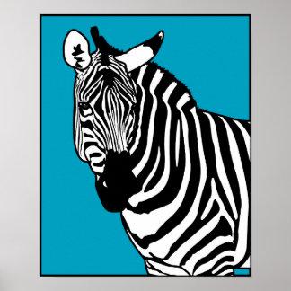 Cool Zebra Animal Wildlife Poster