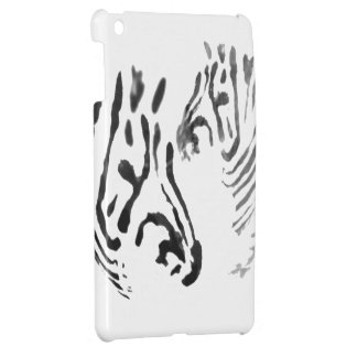 Cool Zebra Black and White Wildlife image Cover For The iPad Mini