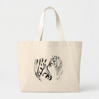 Cool Zebra Black and White Wildlife image Jumbo Tote Bag