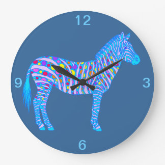 Cool Zebra Colorful Safari Wall Clock Home Decor