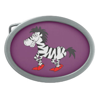 Cool zebra design matching jewelry set oval belt buckle