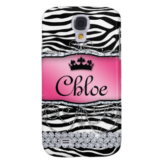 Cool Zebra Monogram Jewelry Bling Crown Cover
