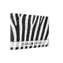 Cool Zebra Pattern Texture Canvas Print