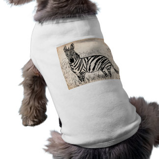 Cool Zebra Scribble on Old Paper T-Shirt