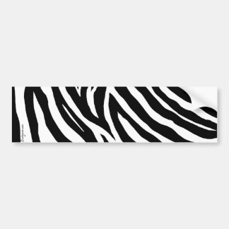 Cool Zebra Stripes Bumper Sticker