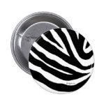 Cool Zebra Stripes Button Pin