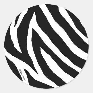 Cool Zebra Stripes Round Sticker