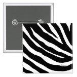 Cool Zebra Stripes Square Pin