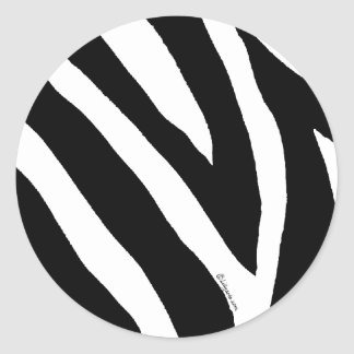 Cool Zebra Stripes Sticker