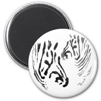 Cool Zebra Wildlife Art Magnet