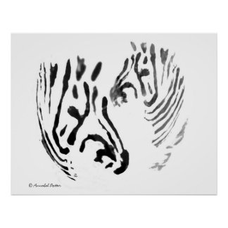 Cool Zebra Wildlife Art Poster