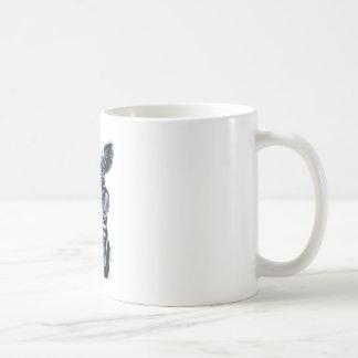 Cool Zebra with Glasses Coffee Mug
