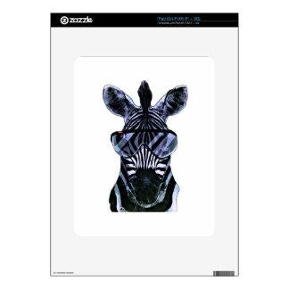 Cool Zebra with Glasses iPad Decals