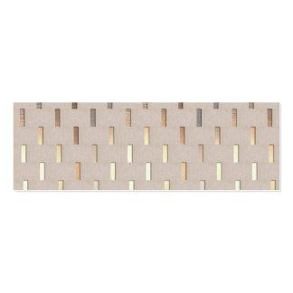 Cool Zen Pattern Stylish Modern Minimalist Double-Sided Mini Business Cards (Pack Of 20)