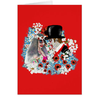 Cool Zombie Bride and Groom Wedding gifts Gothic Card