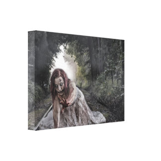 Cool Zombie Girl Canvas Print