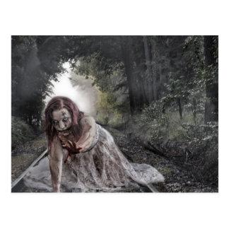 Cool Zombie Girl Postcard