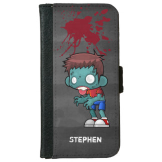 Cool Zombie Guy Seeking Brains Wallet Phone Case For iPhone 6/6s