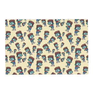 Cool Zombie Pattern Creepy Cool Placemat