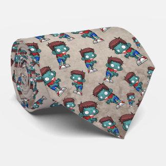 Cool Zombie Pattern Creepy Cute Neck Tie