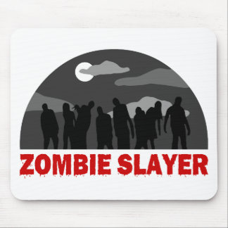 Cool Zombie Slayer design Mouse Pads
