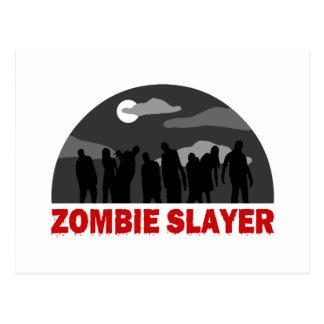 Cool Zombie Slayer design Postcard