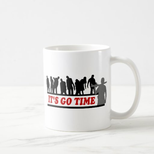 Cool ZOMBIES It's go time design Classic White Coffee Mug