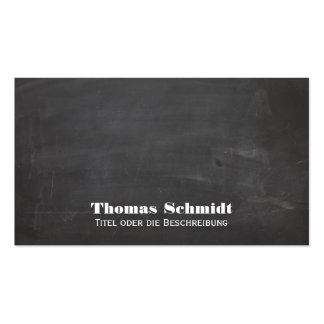 Coole Tafel Look Schwarz Visitenkarte Business Card