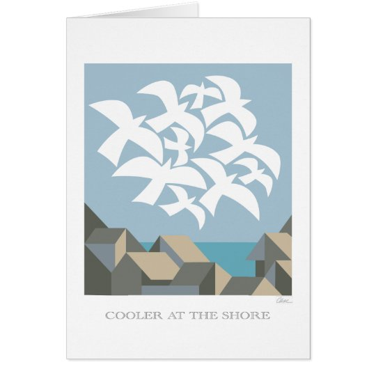 Cooler at the Shore greeting card