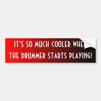 Cooler Drummer Bumper Sticker