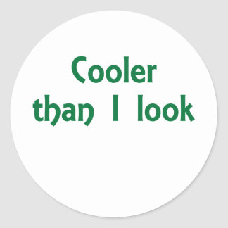 Cooler than I Look Classic Round Sticker