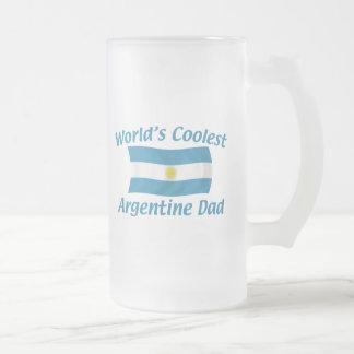 Coolest Argentine Dad 16 Oz Frosted Glass Beer Mug