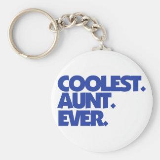Coolest Aunt Ever Basic Round Button Keychain