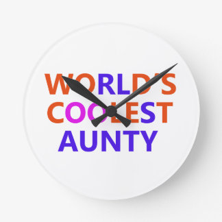 coolest aunt y round clocks