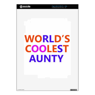 coolest aunt y decals for the iPad 2