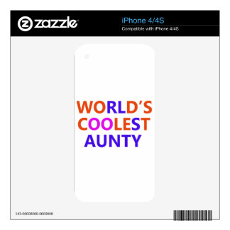 coolest aunt y decal for iPhone 4S