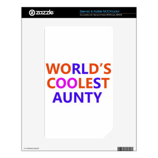 coolest aunt y decals for the NOOK color