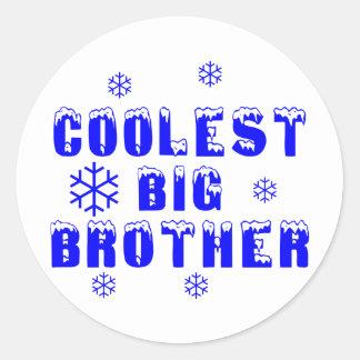 Coolest Big Brother Classic Round Sticker