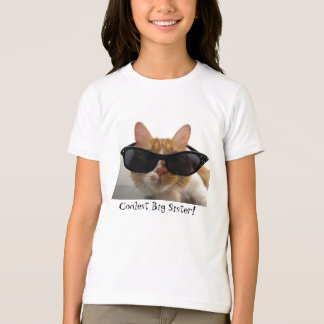 Coolest Big Sister Cool Cat Girls T-Shirt