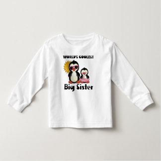 Coolest Big Sister Penguin Toddler T-shirt