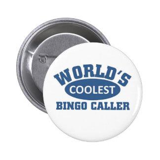 Coolest Bingo Caller Pinback Buttons