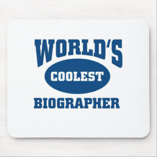 Coolest biographer mouse pad