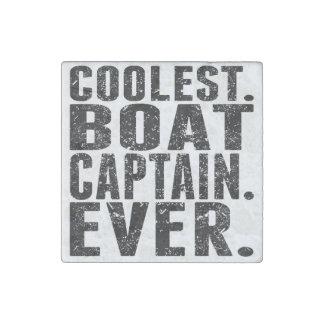 Coolest. Boat Captain. Ever. Stone Magnet