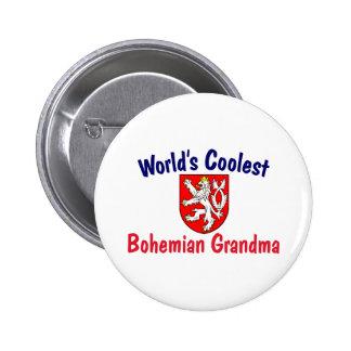 Coolest Bohemian Grandma 2 Inch Round Button