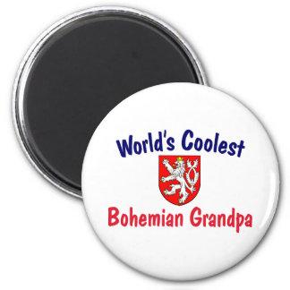 Coolest Bohemian Grandpa 2 Inch Round Magnet