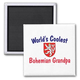 Coolest Bohemian Grandpa 2 Inch Square Magnet
