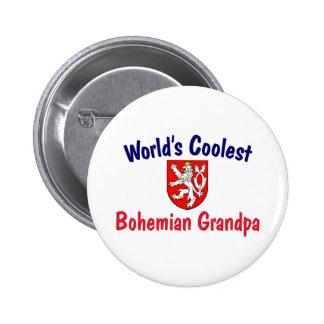 Coolest Bohemian Grandpa Pinback Buttons