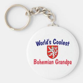 Coolest Bohemian Grandpa Keychain